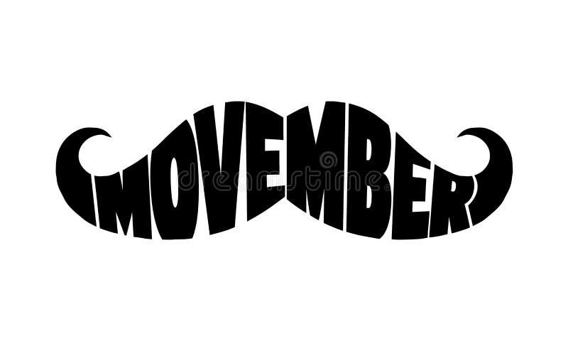 Mese di consapevolezza del carcinoma della prostata di Movember Concetto di salute del ` s degli uomini Per il manifesto, insegna illustrazione di stock