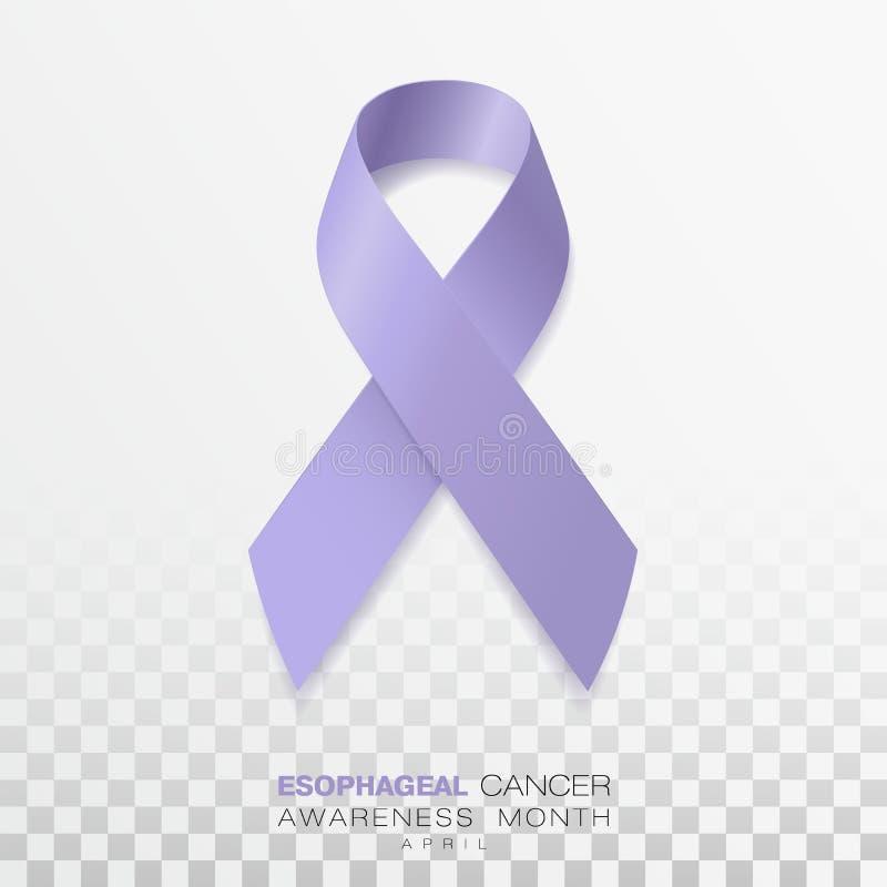 Mese esofageo di consapevolezza del Cancro Nastro di colore della vinca isolato su fondo trasparente Modello di progettazione di  illustrazione di stock