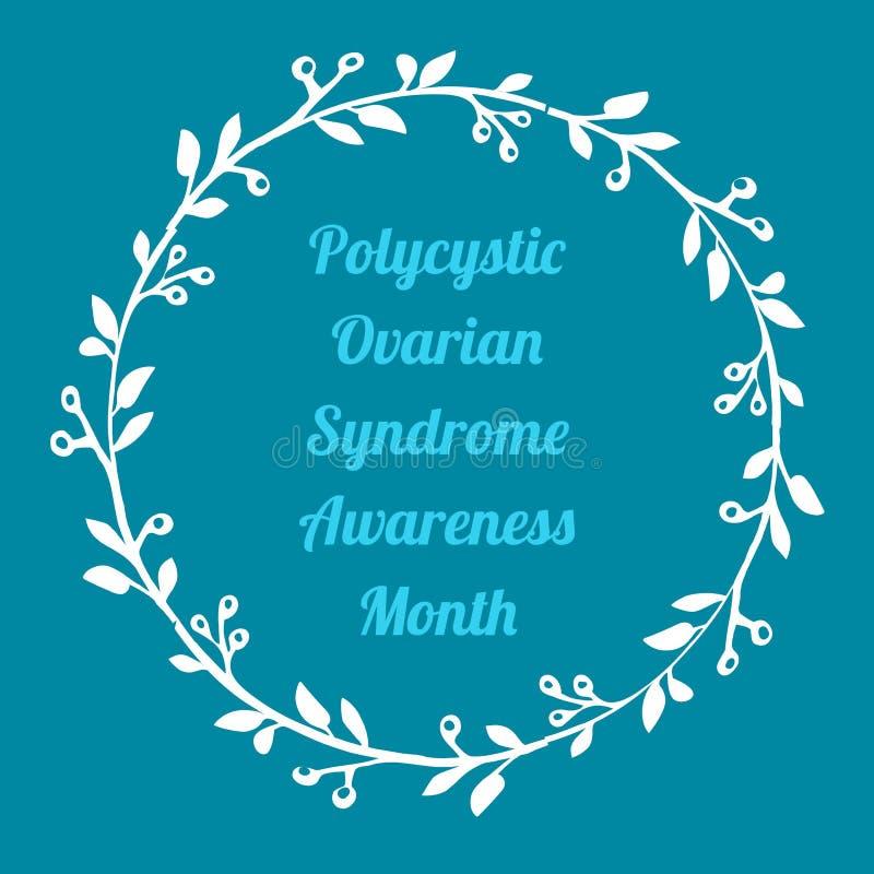 Mese ovarico policistico di consapevolezza di sindrome illustrazione vettoriale