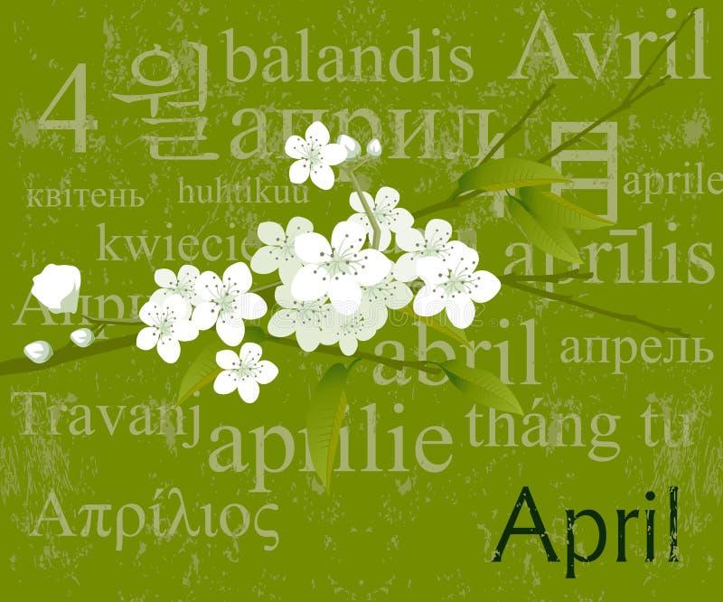 Meses de concepto abril ilustración del vector