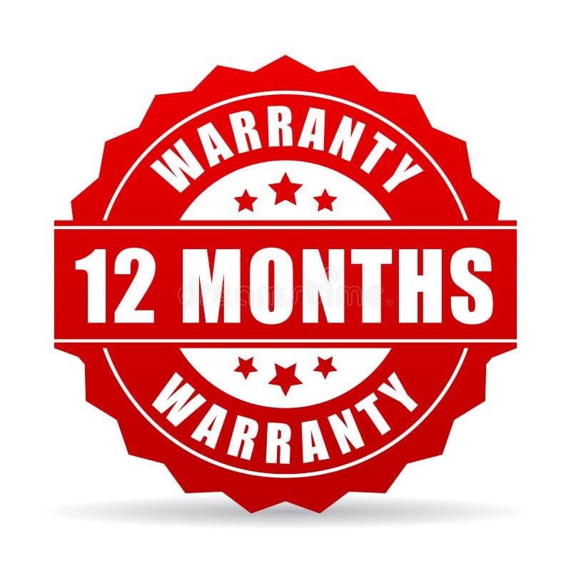 12 meses de la garantía de icono del vector libre illustration