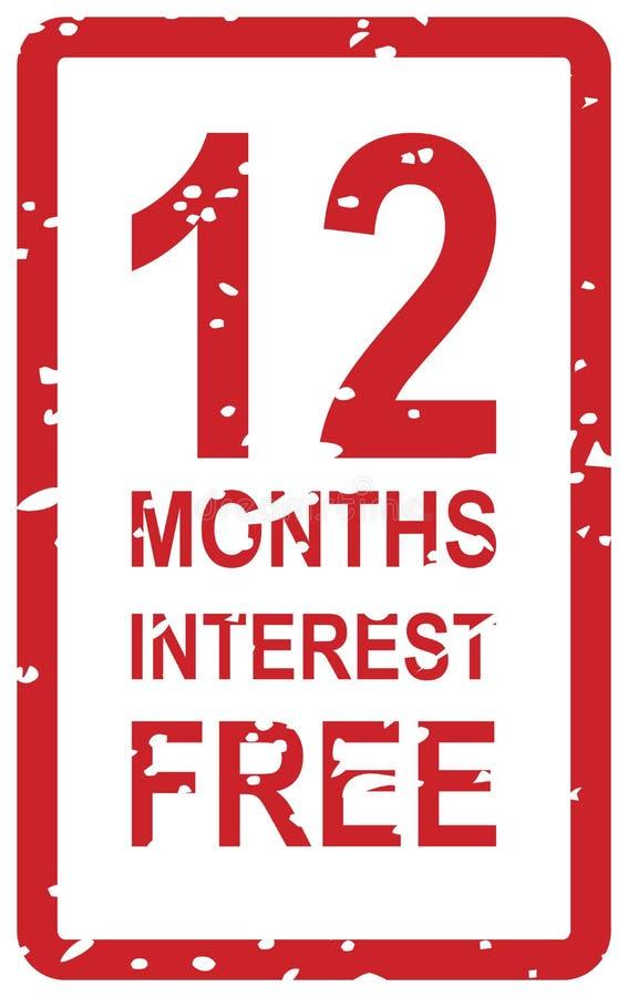 12 meses de sello exento de intereses libre illustration