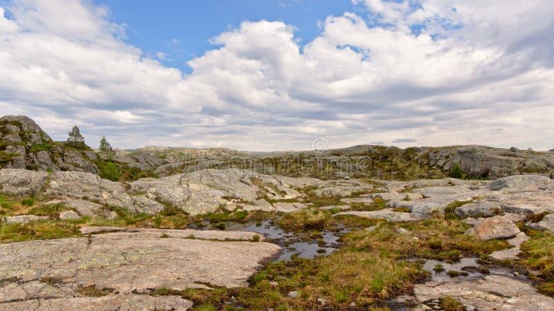 Meseta de la montaña en Rogaland, Noruega foto de archivo libre de regalías
