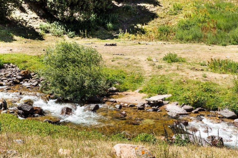 Meseta del montaje en la montaña de Tien Shan en Almaty, Kazajistán, Asia en el verano imagen de archivo libre de regalías