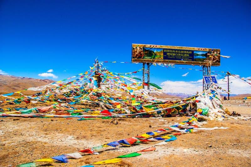 Meseta tibetana escena-Mt. Reserva de naturaleza nacional de Qomolangma (Everest) fotos de archivo