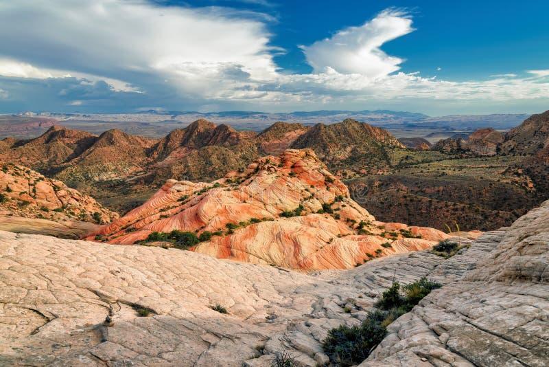 Meseta Yant plano - acantilados del caramelo, Utah fotos de archivo
