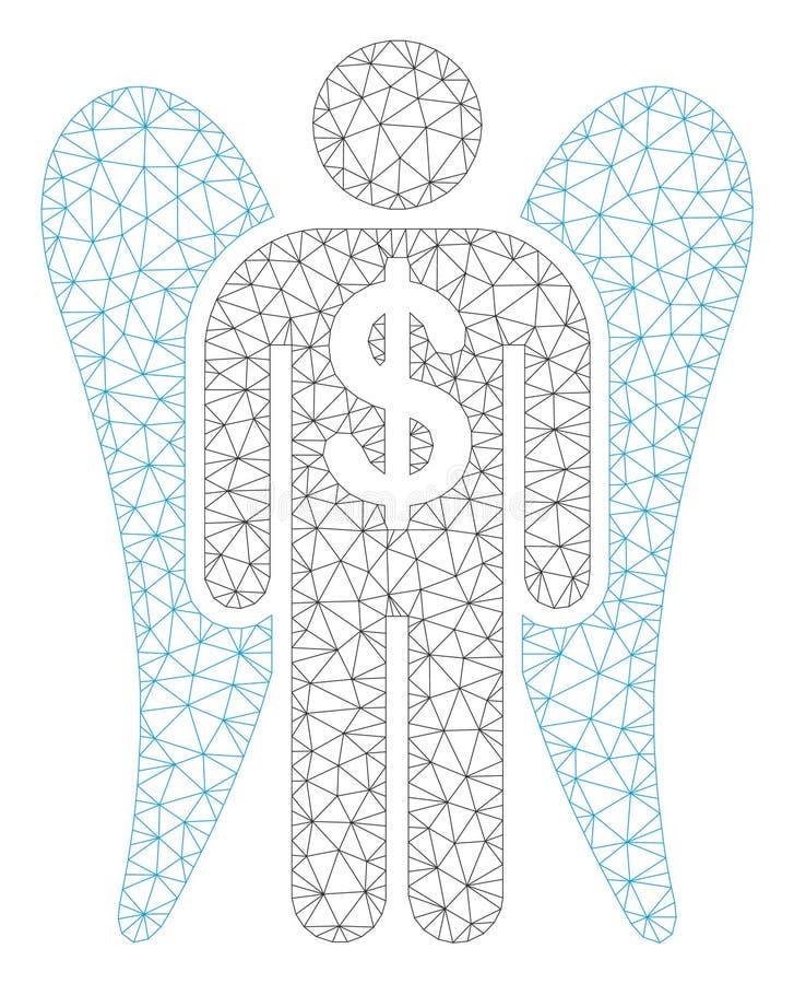 Angel Investor Polygonal Frame Vector Mesh Illustration royalty free illustration