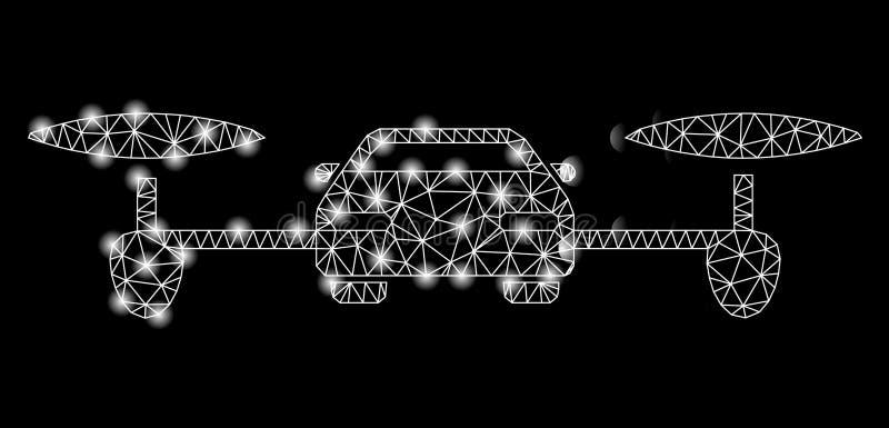 Mesh Carcass Air Car brilhante com pontos do alargamento ilustração stock