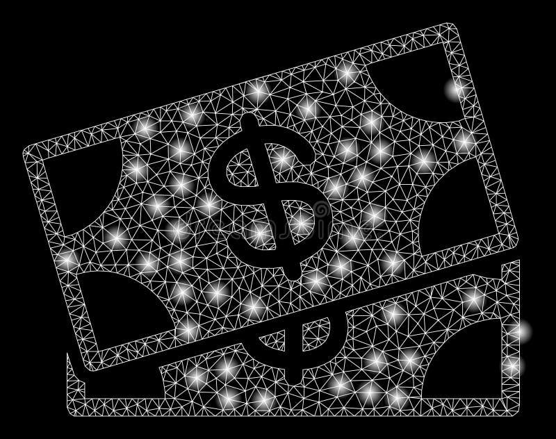 Mesh Carcass Banknotes brilhante com pontos instant?neos ilustração do vetor
