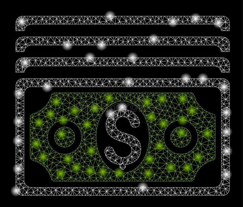 Mesh Carcass Banknotes brilhante com pontos instant?neos ilustração royalty free
