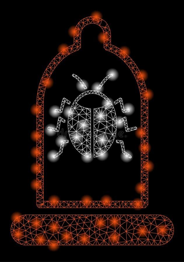 Mesh Carcass Bug Protection Condom brilhante com pontos do alargamento ilustração royalty free