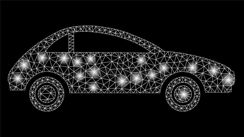 Mesh Carcass Coupe Car brilhante com pontos instantâneos ilustração royalty free