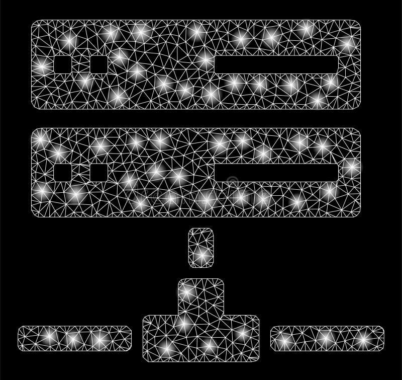 Mesh Carcass Database Connection brilhante com pontos claros ilustração do vetor