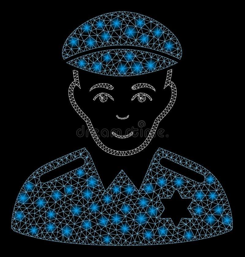 Mesh Carcass Sheriff que brilla intensamente con los puntos ligeros libre illustration