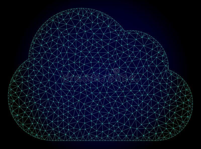 Cloud Polygonal Frame Vector Mesh Illustration vector illustration