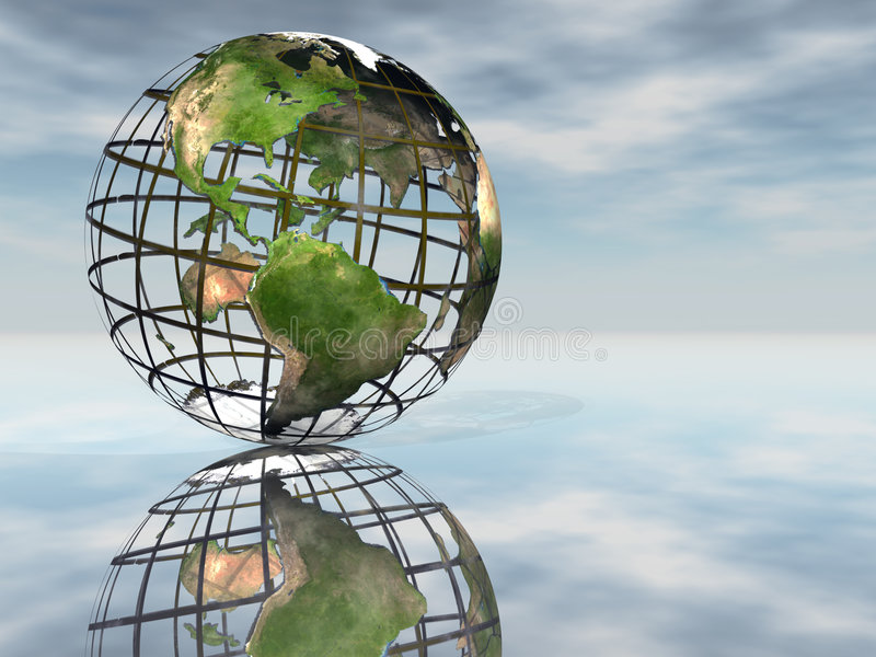Download Mesh Earth stock illustration. Illustration of connect - 1282181