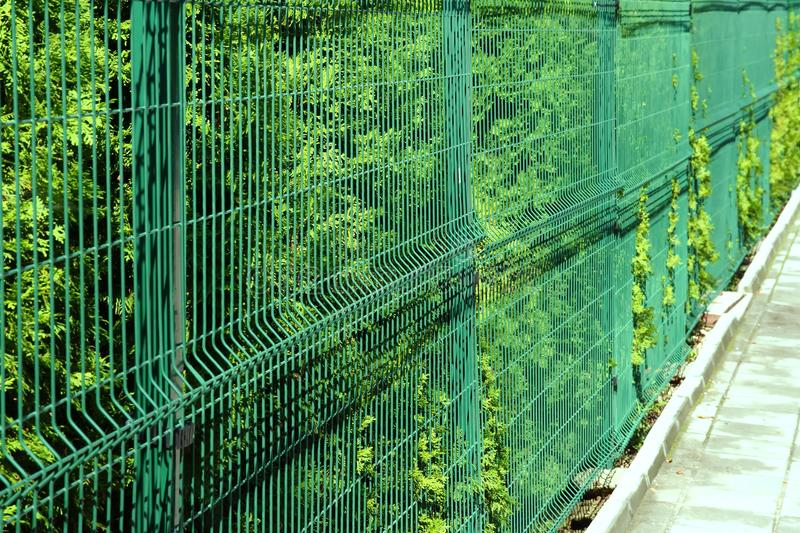 Mesh Fencing Panels rigide photographie stock libre de droits
