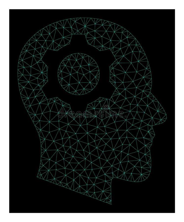Mesh Head Gear in Polygonal Network Vector Style vector illustration