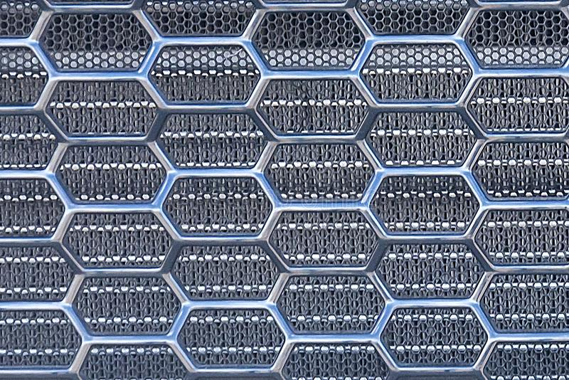 Mesh machine. Radiator grille. Metal texture. the radiator grill is large powerful. The front of the car. Truck radiator grill. royalty free stock photography