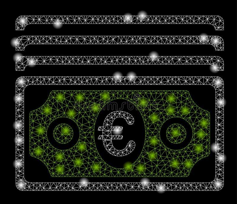 Mesh Network Banknotes brilhante com pontos do alargamento ilustração royalty free