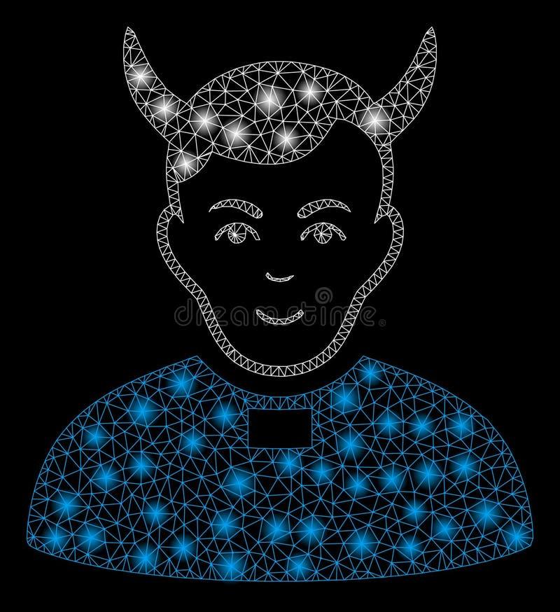 Mesh Network Devil Priest brillante con los puntos de destello libre illustration
