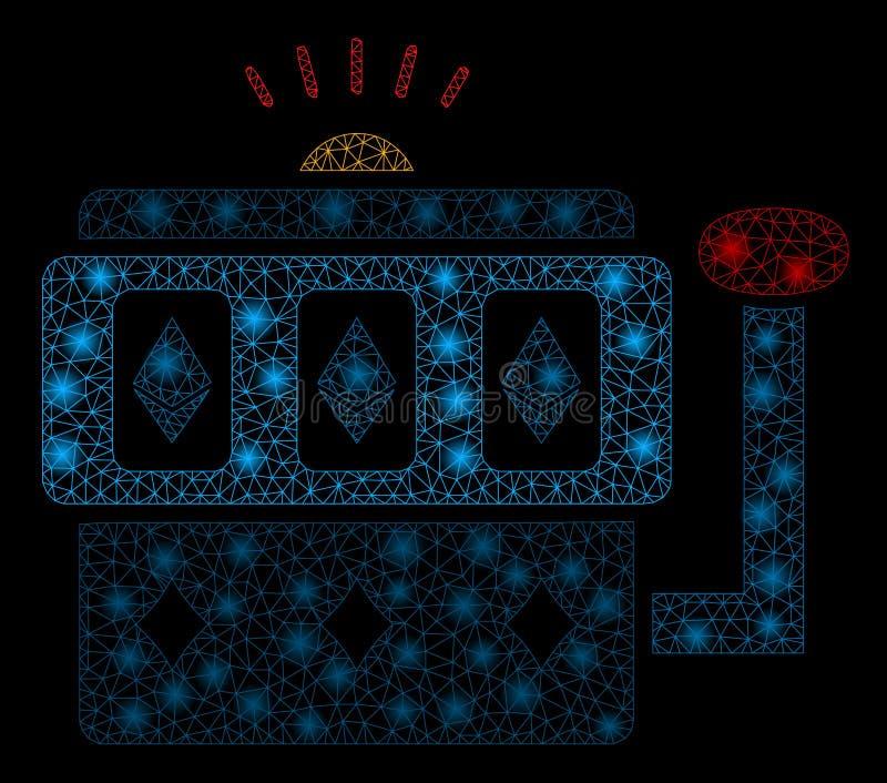 Mesh Network Ethereum Gambling Machine brilhante com pontos instantâneos ilustração royalty free