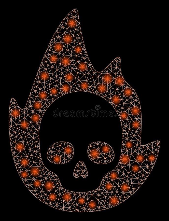 Mesh Network Mortal Flame que brilla intensamente con los puntos ligeros libre illustration