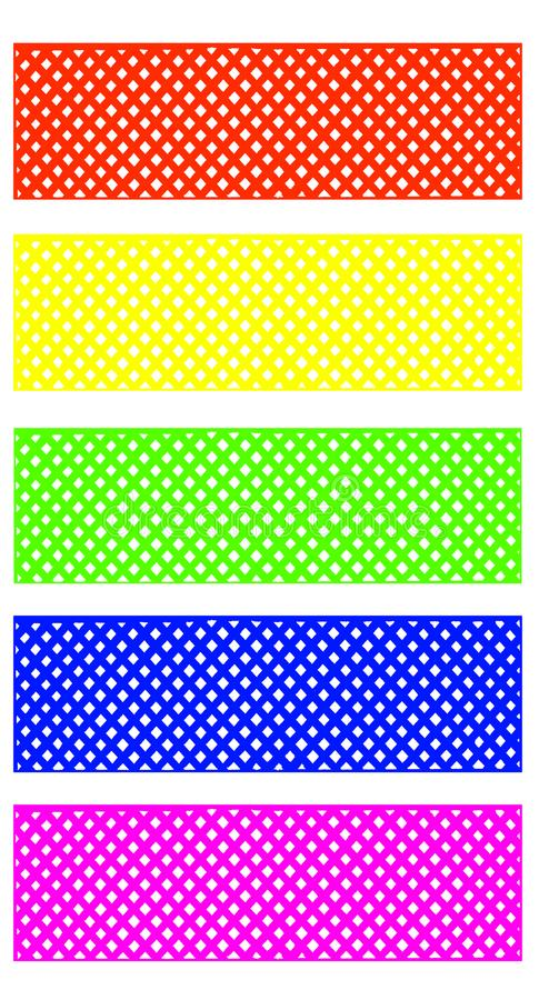 Mesh pattern Bright colors for decoration.with clipping path royalty free stock image