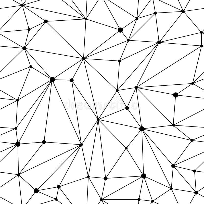 Mesh Seamless Pattern geométrico ilustração do vetor