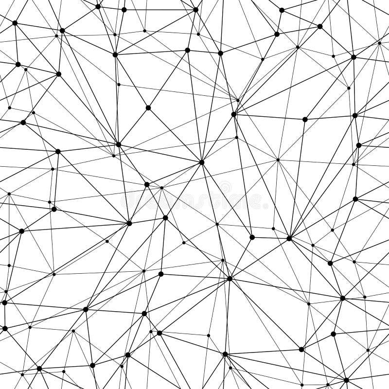 Mesh Seamless Pattern geométrico ilustração royalty free