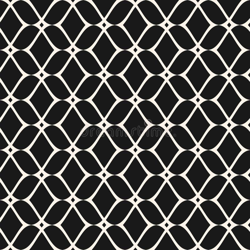 Mesh seamless pattern, thin wavy lines. Texture of lace, weaving. Elegant mesh seamless pattern, thin wavy lines. Texture of lace, weaving, net, smooth lattice vector illustration