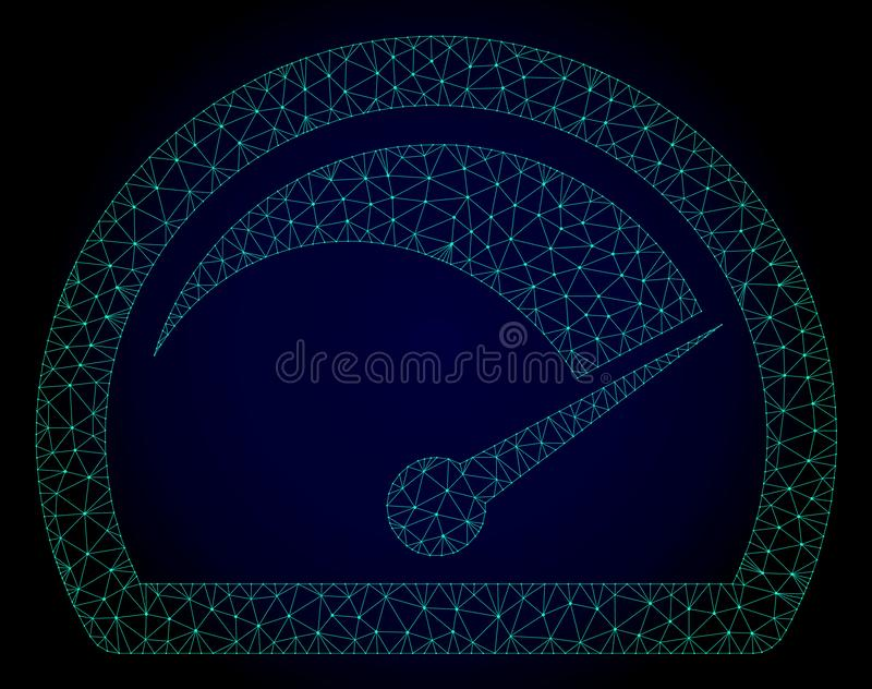 Speed Gauge Polygonal Frame Vector Mesh Illustration vector illustration