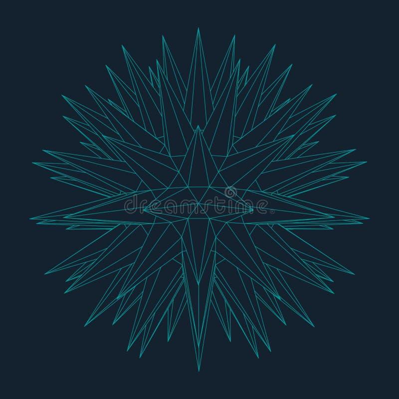 Download Mesh Sphere Tordu Lumineux Par 3d Abstrait Signe Au Néon Technologie Futuriste HUD Element Élégant Détruit Illustration de Vecteur - Illustration du présentation, maille: 77151474