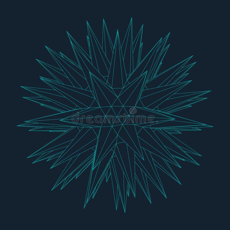 Download Mesh Sphere Tordu Lumineux Par 3d Abstrait Signe Au Néon Technologie Futuriste HUD Element Élégant Détruit Illustration de Vecteur - Illustration du contexte, disposition: 77152467
