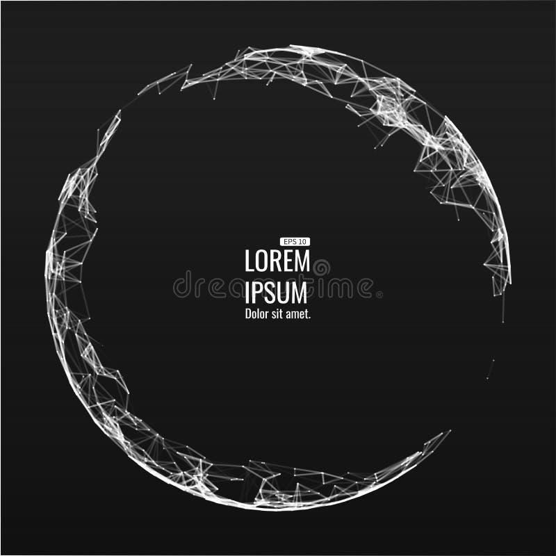 Download Mesh Sphere Tordu Lumineux Par 3d Abstrait Signe Au Néon Technologie Futuriste HUD Element Élégant Détruit Illustration de Vecteur - Illustration du conception, grand: 77152880