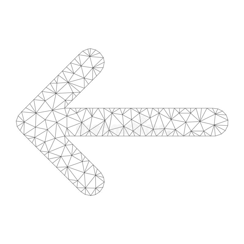 Mesh Vector Arrow Left Icon illustrazione vettoriale