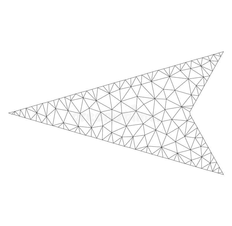 Mesh Vector Arrowhead Left Icon vector illustration