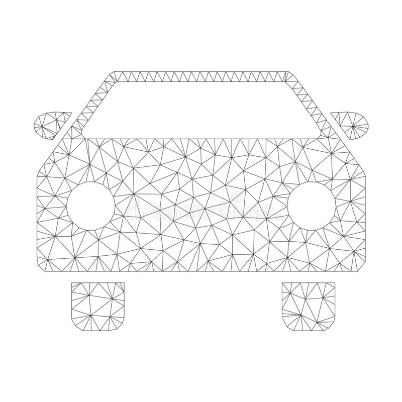 Mesh Vector Car Icon stock illustrationer