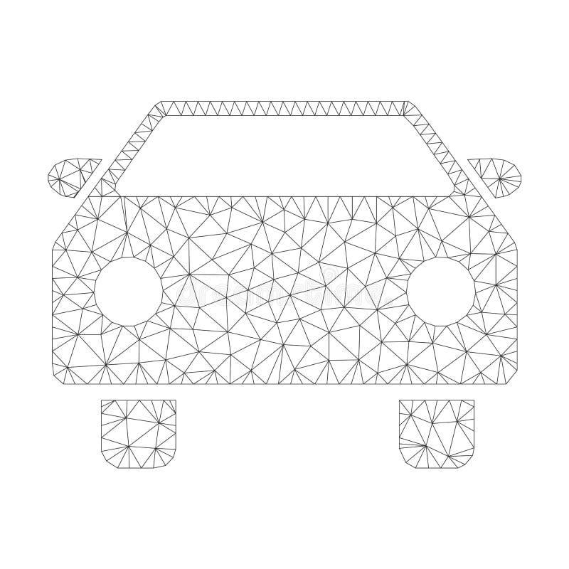 Mesh Vector Car Icon stock illustration