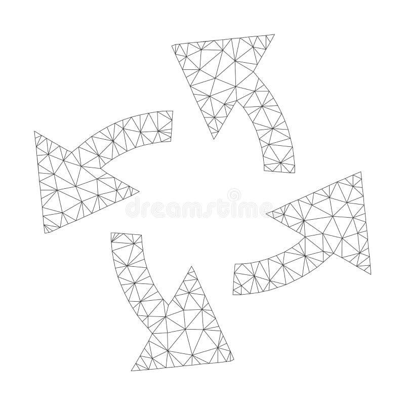 Mesh Vector Centrifugal Arrows Icon royaltyfri illustrationer