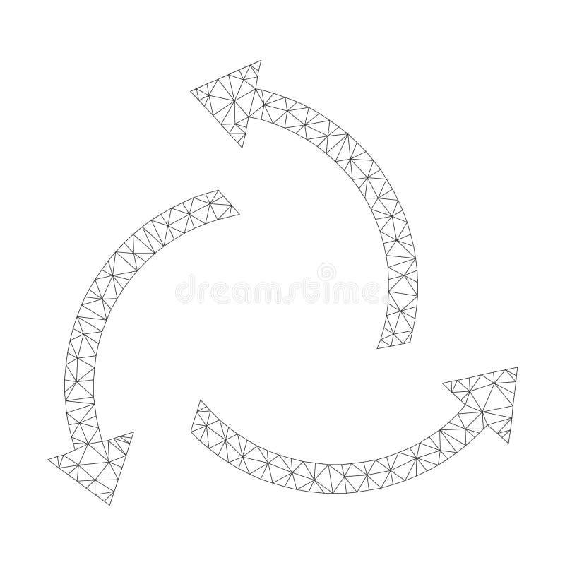 Mesh Vector Centrifugal Arrows Icon stock illustrationer
