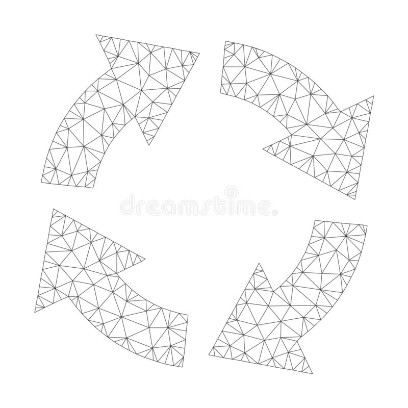 Mesh Vector Circulation Icon stock illustrationer