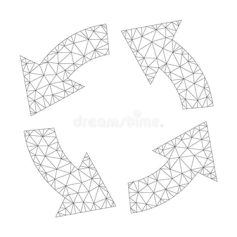Mesh Vector Circulation Icon vektor illustrationer