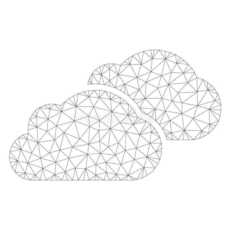 Mesh Vector Clouds Icon illustrazione vettoriale