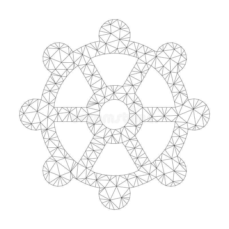 Mesh Vector Cog Icon vektor illustrationer
