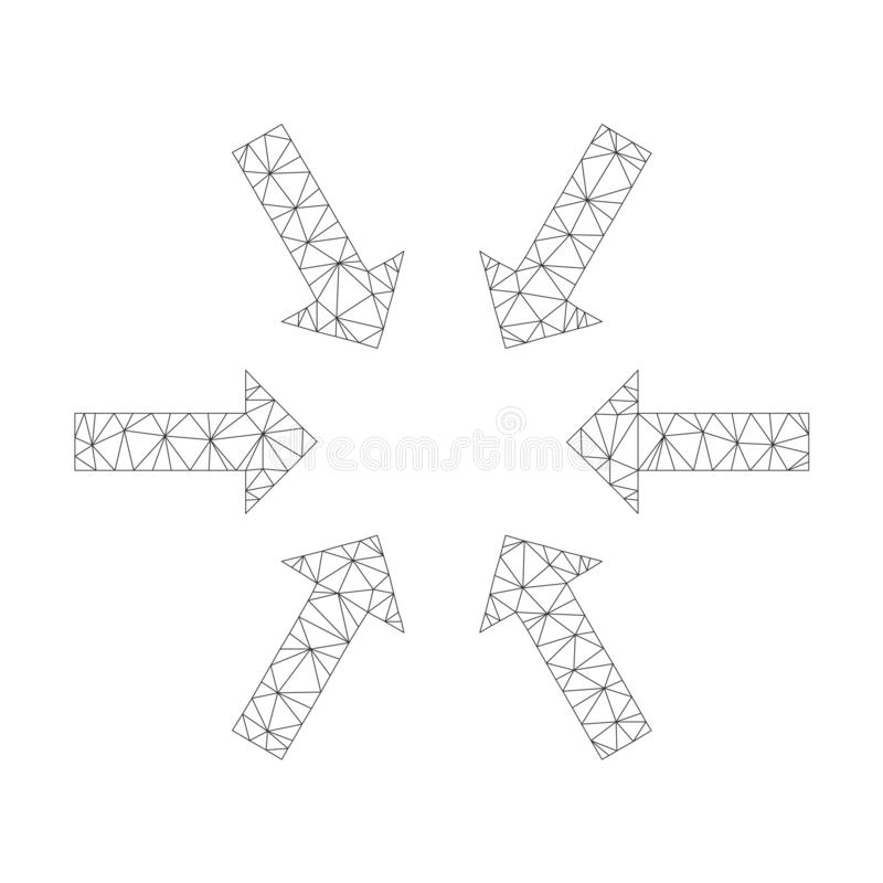 Mesh Vector Compact Arrows Icon royaltyfri illustrationer