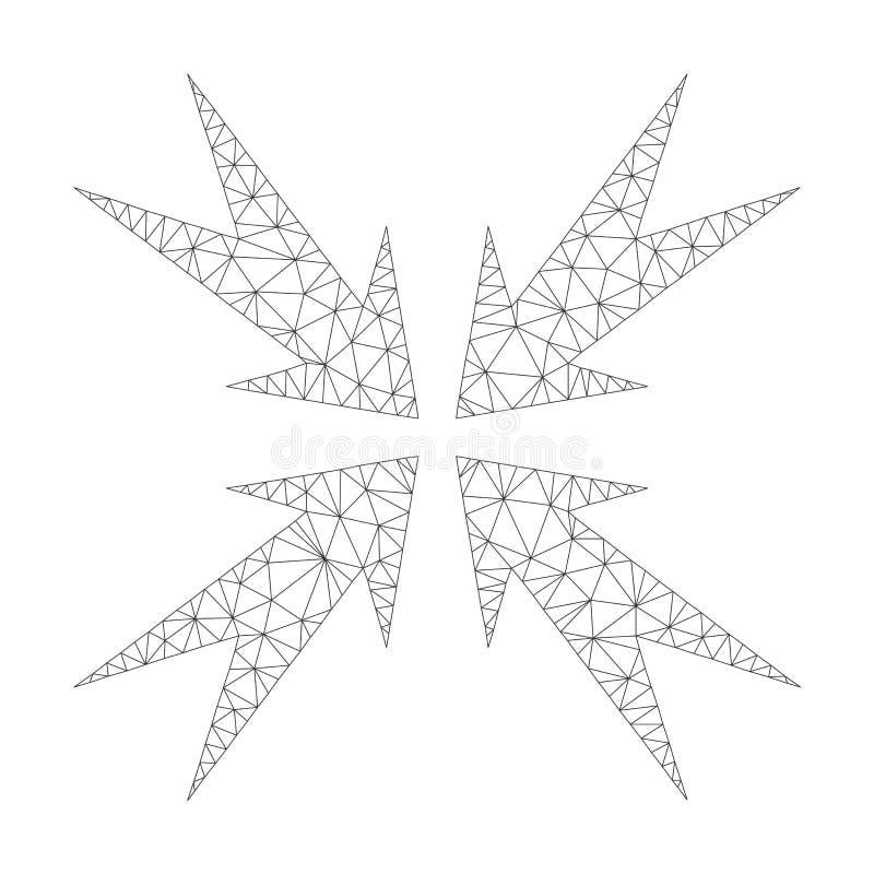 Mesh Vector Compression Arrows Icon vector illustratie