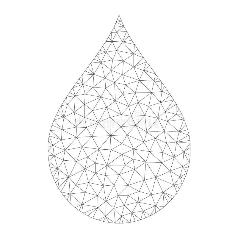 Mesh Vector Drop Icon vektor illustrationer