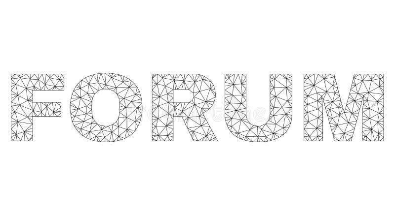 Polygonal Network FORUM Text Caption vector illustration