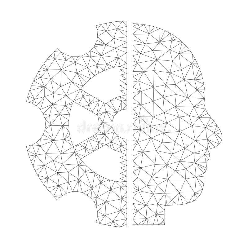 Mesh Vector Intellect Icon vector illustratie